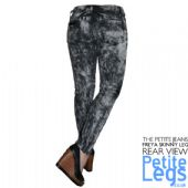Freya Slate Acid Wash Tie Dye Skinny Jeans | UK Size 12-14 | Petite Leg Inseam Select: 25 or 29 Inches